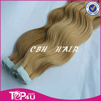 Double drawn top grade American blue glue tape in hair extensions