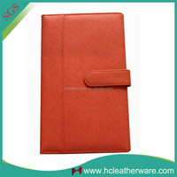 Hot New Products for 2015 Orange Leather Travel Wallet,Ticket Wallet,Magic Wallet