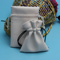 wholesale jewelry gift use leather pouch bag with drawstring