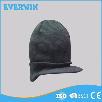 Grey Wholesale Warm Adult Short Brim Cap For Man
