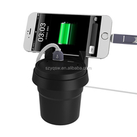 Ashtray and USB Charger Station for Car Cup Holder