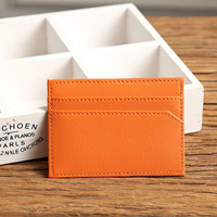 New pu leather/genuine leather credit / name card holder for business