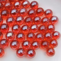 14mm red glass marble with good price