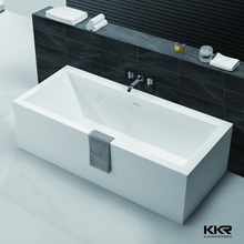 Japanese Style Square Bathtub , Solid Surface Freestanding Hot Tub