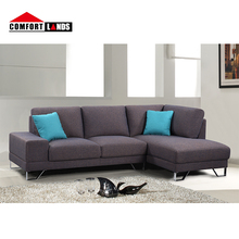 New CIFF design sectional sofa fabric modern living room <strong>furniture</strong> l shape sofa