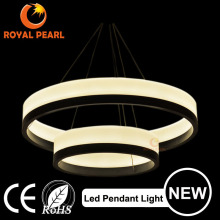 modern acrylic modern large circle suspended led light fixture, aluminum led large ring pendant lamp
