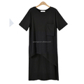 China fashion woman wears short sleeve character womens casual dress