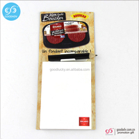 Promotional cheap Fridge magnet notepad custom sticky notes