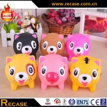 Squeeze Pig Rubber Toy Custom Soft Vinyle Toy Animal Promotion Bath Toy
