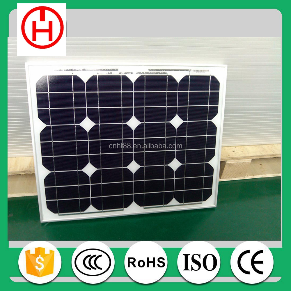 CE RoHS certificated Chinese product 30w 40w 50w 60w solar panel