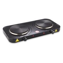 2000W portable powerful electric solid hot plate cooktop countertop burner with two cooking hot plate stove