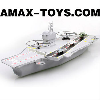 rs-038786A aircraft-carrier toy Large Emulational Remote Control Aircraft-Carrier with Sounds and Lights