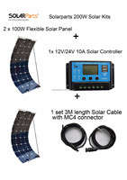 200W high efficiency solar panel system with China factory price