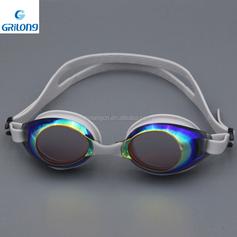 Silicone protect eyecup swim glass for best waterproof goggle 2015 with case