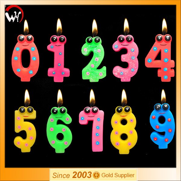 snake animal number candle birthday cake candle supplier
