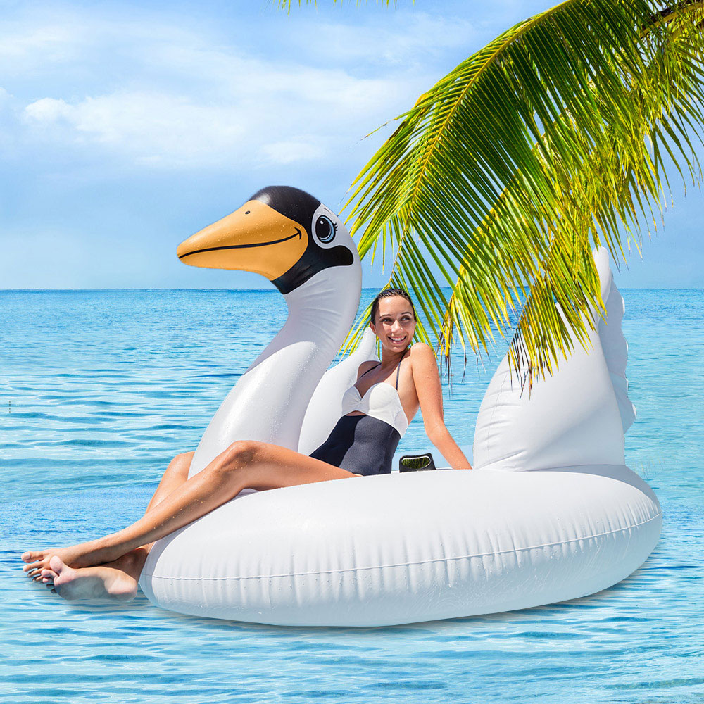 INTEX 56287 giant swim swan ride-on pool float inflatable