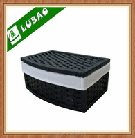 Wholesale Stained Woodchip Wicker Storage Basket For Sale