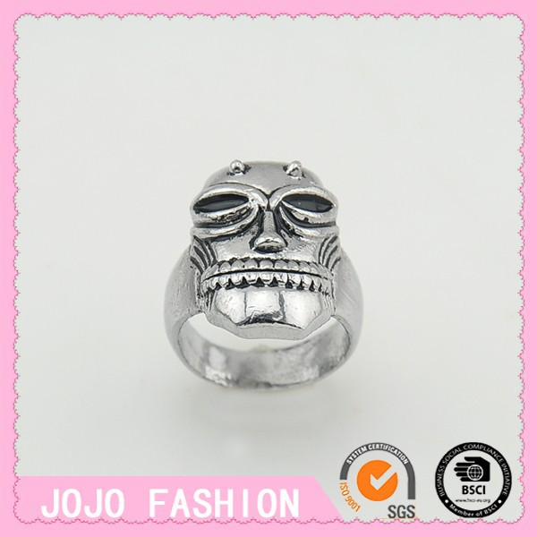 caricature character indian skull ring