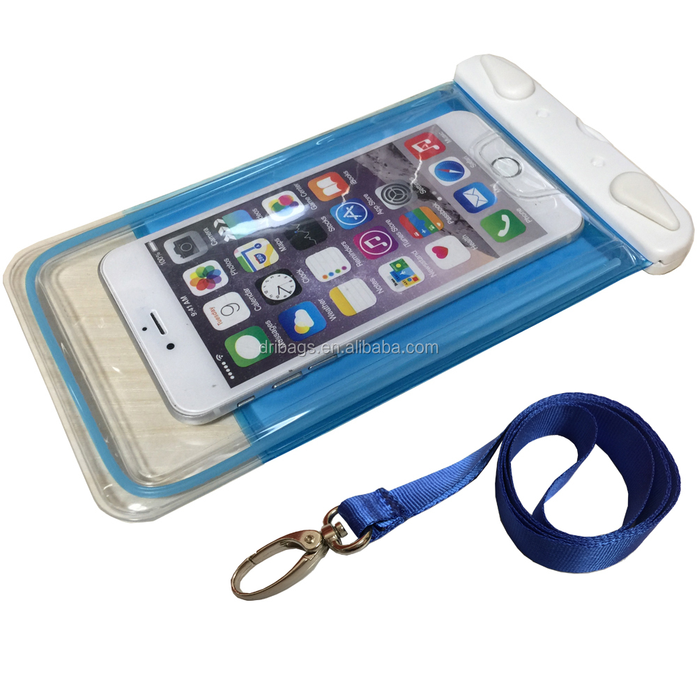 Free sample universal mobile dry bag tpu carrying waterproof cell phone case for samsung