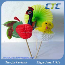 Peacock Decorated Wood Party Picks/Decorative Toothpicks