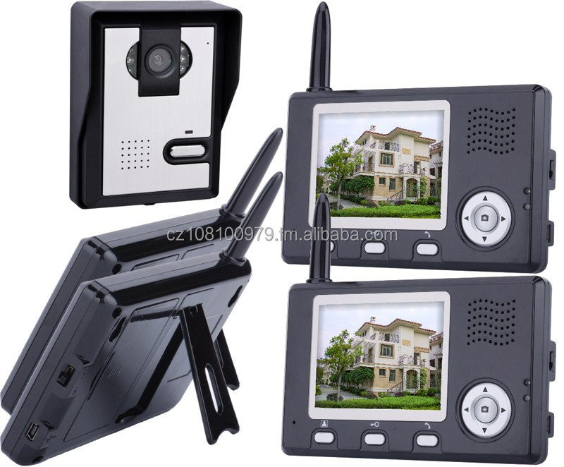 Wireless video door phone 3,5""