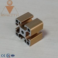 aluminum different colors anodized extrusion profile/ 6063 T5 extrusion ISO certificated