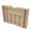 High quality wooden cutlery tray with compartments