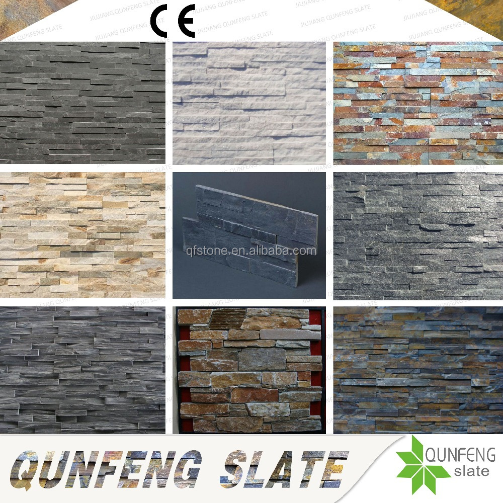 CE Passed Split Surface Antacid Natural Stone Cladding Wall Slate