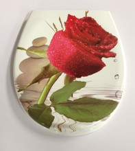 duroplast toilet seat with flower printing