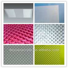 Hot sale diamond pattern acrylic prismatic diffuser sheets