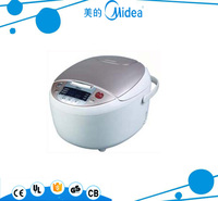 Midea price for stainless steel drum/oval shape Rice Cooker with plastic measuring cup 4L