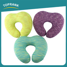 Toprank Heart Shaped Foldable Travel Neck Pillow Memory Foam Bolster Neck Rest U Shape Travel Memory Foam Pillow