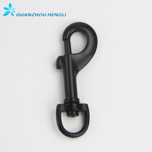 Black Spray-paint Round Eye Swivel Bolt Snap Hook