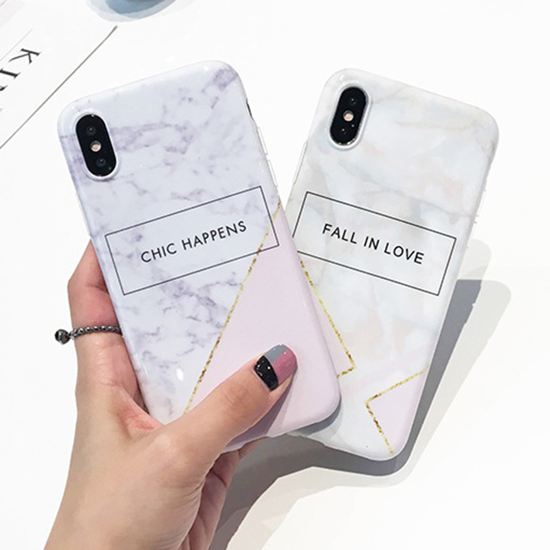 Reseller Wholesale Drop Ship Custom Phone Cover for iPhone 8 7 6 Plus Gold Marble TPU IMD Case for iPhone X 10