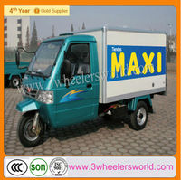 300cc lifan trike motorcycle water cooled closed three wheel car/refrigerated tricycle for sale