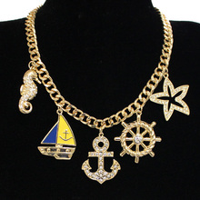 Nautical Charms Fashion Chain Necklace