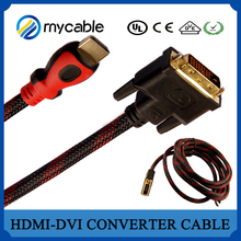 MYCABLE 10 FT Gold 1.3 HDMI To DVI Cable For HDTV LCD Moitor 3M
