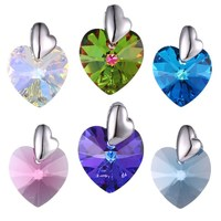 33697 crystals from Swarovski, love heart xuping imitative amethyst diamond stone sterling silver color blue crystal pendant