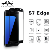 Promotion 0.26MM 3D Curved Edge Full Cover Tempered Glass Screen Protector for S7 Edge