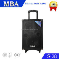 "Dual 8"" Loud portable battery powered speaker with Main volume/bass/treble/MIC/Echo/guitar control"