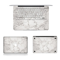 Laptop Marble Skin Vinyl Decal Marble Granite Full Skin Stickers for Macbook Air Pro Retina