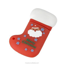 Gift stocking usb flash drive 1gb for christmas promotion