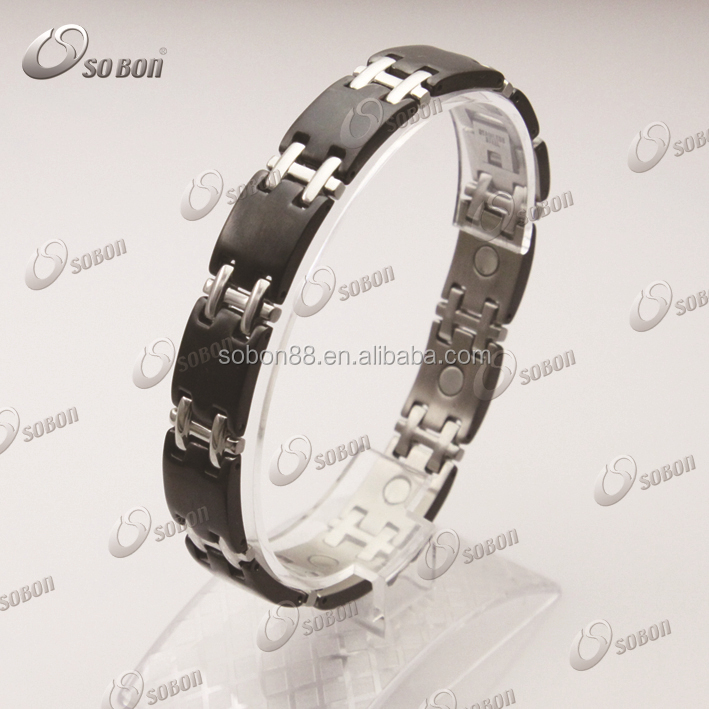 GT-193 White goody ceramic chain bracelet with health element