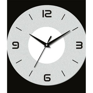 Wholesale customized chinese round tempered glass alarm clock