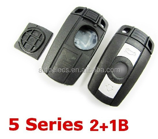 Auto Remote key Shell for B MW 3 5 series 3 button smart key case car key covers with battery cover