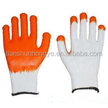 Construction used Cotton liner Latex Coated Working Glove