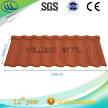 Good Price Building material Stone coated metal roofing tile, durable colorful tile
