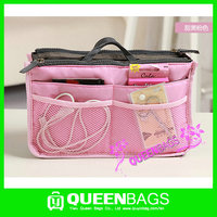 2015 fashion various colors large cosmetic bag with compartments for wholesale