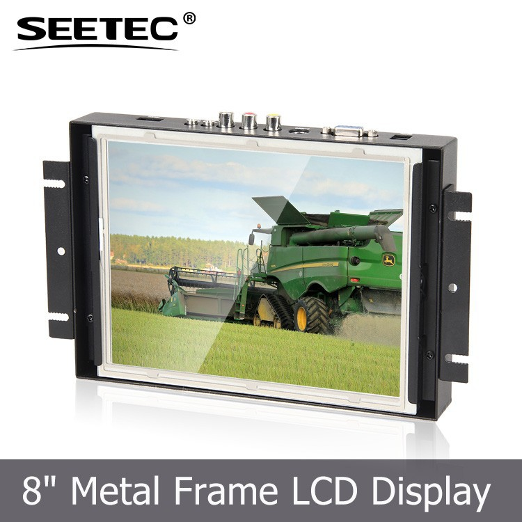 8 inch embedded tft panel frameless lcd monitor with resistive touchscreen for industrial control system