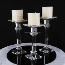 Factory supply low price sanctity crystal candle holder with good prices